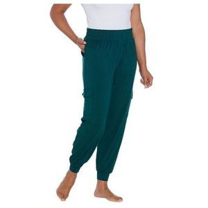 AnyBody Cozy Knit Cargo Jogger Pants with Pockets